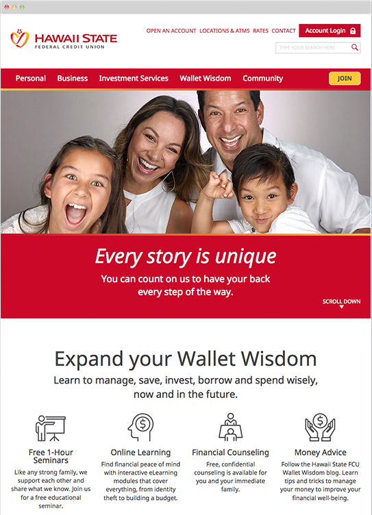 Hawaii State FCU's website redesigned with new features