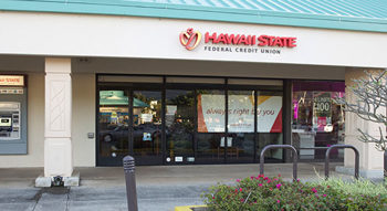 Exterior photo of the Hawaii State FCU Kaneohe Branch