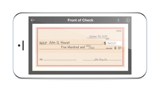 Mobile Check Deposit on your smart phone.