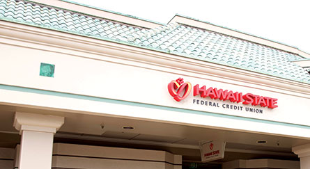 Hawaii State FCU Kapolei Branch closeup