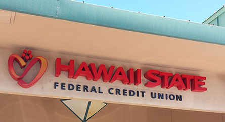 Hawaii State FCU Kahului Branch sign