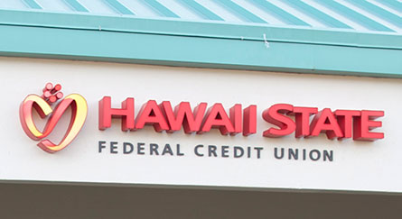 Hawaii State FCU Kaneohe Branch closeup