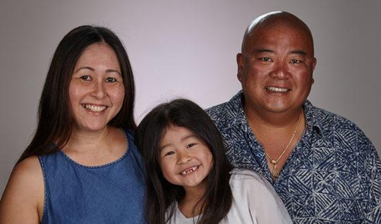 Family of three.