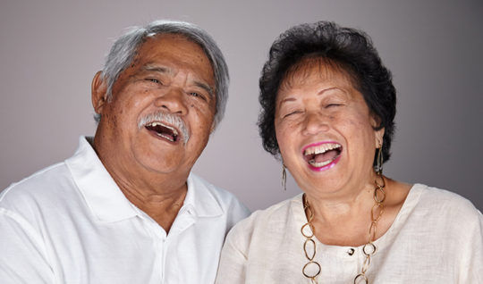 Happy retired couple.