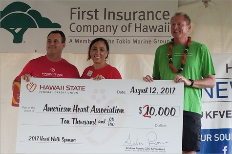 Check presentation to the American Heart Association with a donation of $20,000.