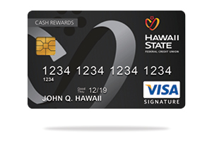 Hawaii State FCU Visa<sup>&reg;</sup>&#32;Signature Credit Card