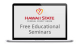 Laptop with Hawaii State FCU logo and Free Educational Seminars text
