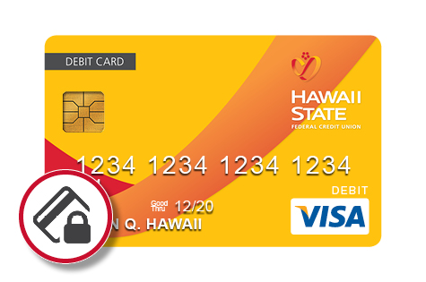 HSFCU Debit Card with the Debit Card Controls icon