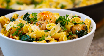 Shrimp-pasta-spinach-hero