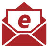 "Illustrative icon of an a letter with the letter ""e"" sitting in an open envelope - represents ""E-statements"""