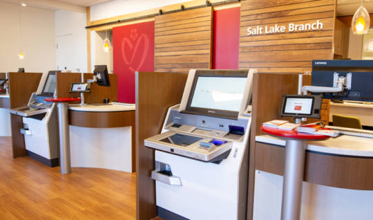 Photo of the ITM machines in the interior space of the new Salt Lake Branch