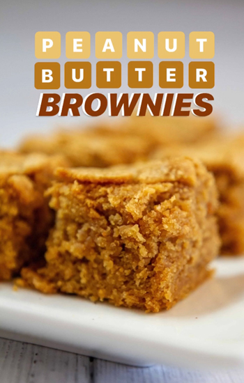 Photo of the Bites on a Budget Pantry Edition dish, Peanut Butter Brownies.