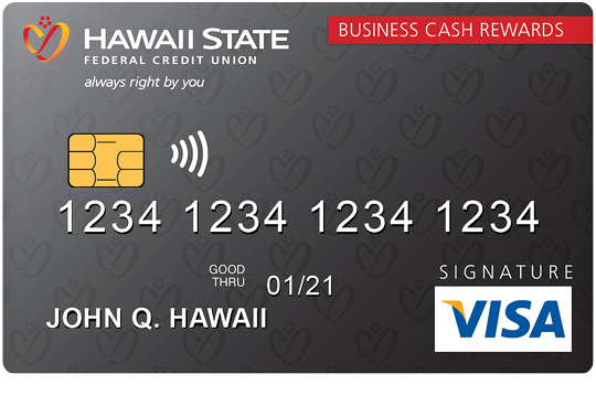 Hawaii State FCU Visa<sup>®</sup> Business Signature Rewards credit card