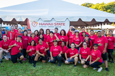 Hawaii State FCU Employees ready to participate in the Heart Walk
