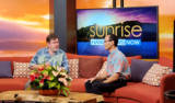 Sean Umetsu, Financial Advisor being interviewed on the morning news show Sunrise